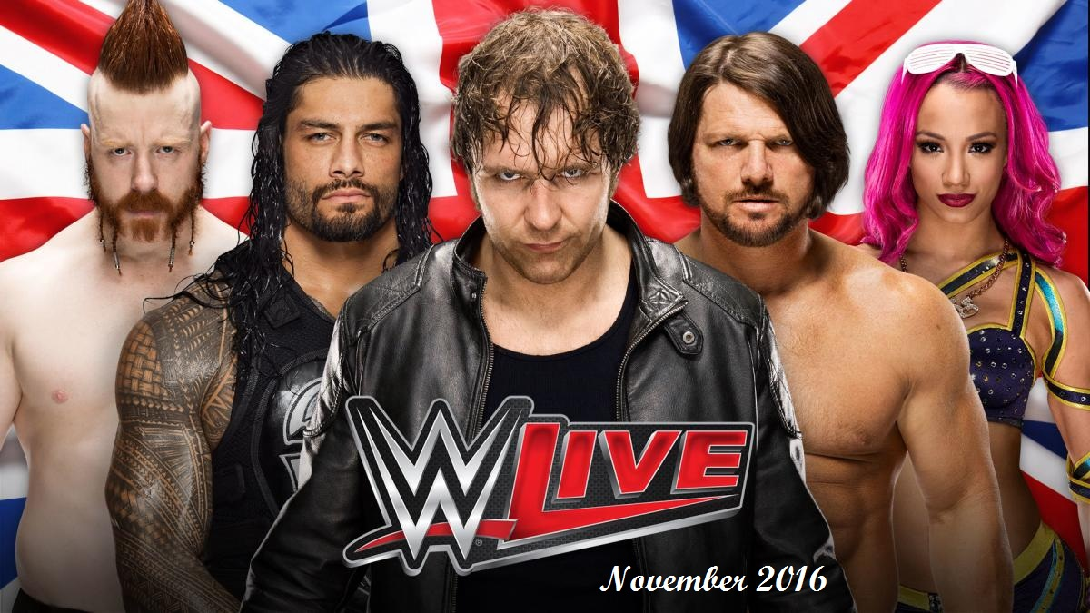 Manchester's Contribution of WWE Live In Coming November